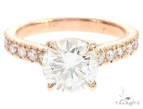 14K Rose Gold Diamond Engagement Ring 65076 Engagement