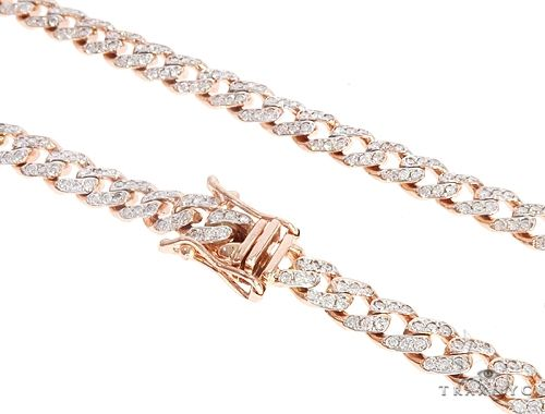 14k Rose Gold Diamond Miami Cuban Link Chain 65094 Diamond