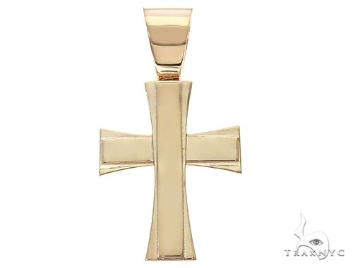 14k Yellow Gold Masterpiece Cross 65100 Diamond
