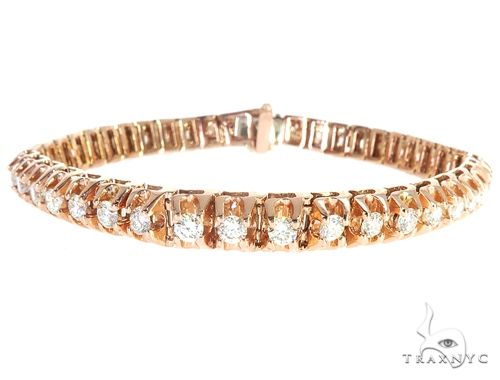 14k Rose Gold Diamond Bracelet 65110 Diamond