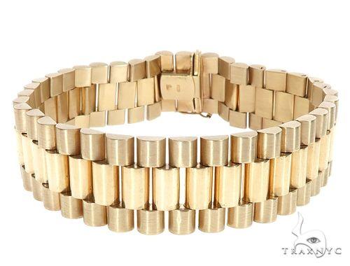 14k Yellow Gold Rolex Watch Band Bracelet 65112 Gold