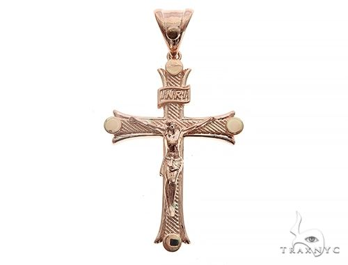 14K Rose Gold Cross Crucifix Men Specials