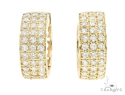 14K Yellow Gold Uniqua Hoops 65132 Stone
