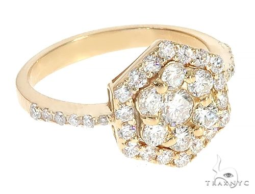 18K Yellow Gold Glacier Ring 65133 Engagement