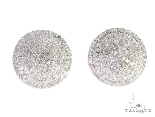14K Yellow Gold Diamond Cluster Stud Earrings 65144 Stone