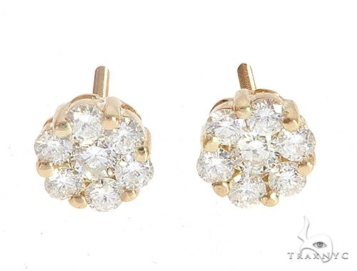 Prong Diamond Cluster Earrings 56909 Stone