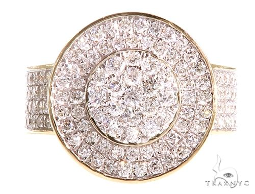 10K Yellow Gold Men's Diamond King Ring 65151 Stone