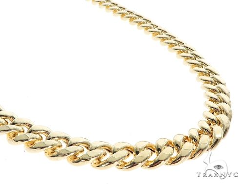 Miami Cuban Chain Hollow 14K Yellow Gold 28 Inches 11mm 65158 Gold