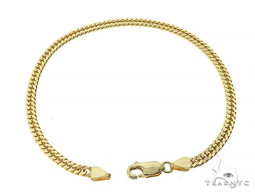 14K Yellow Gold  Double Curb Link Bracelet 8 inches 3.8mm 7.5gm 65195 Gold