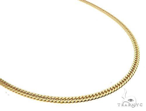 14K Yellow Gold Double Curb Link Chain 24 inches 3.8mm 22gm 65197 Gold
