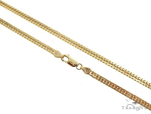 14K Yellow Gold Double Curb Link Chain 26 inches 3.8mm 24gm 65198 Gold