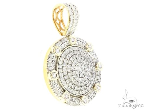 10K Yellow Gold Round Shape pendant 65201 Metal