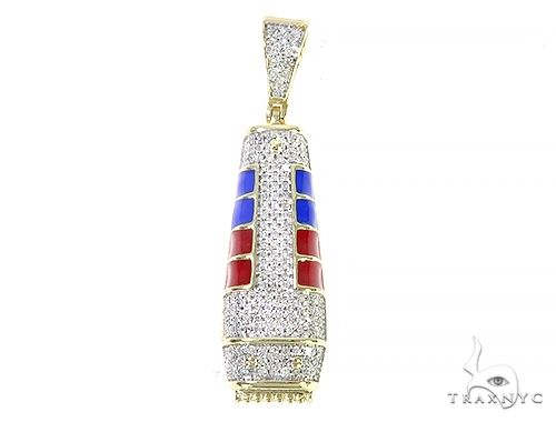 Micro Pave Diamond Barber Pendant 65203 Metal