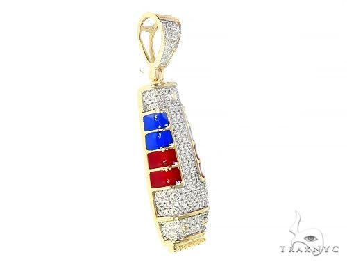 Micro Pave Diamond Barber Pendant 65203 Metal