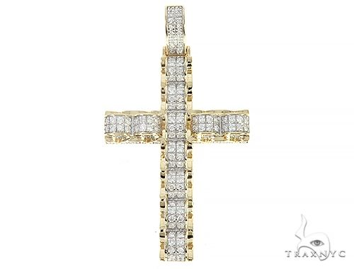 Prong Diamond Cross Pendant 65204 Diamond Cross Pendants