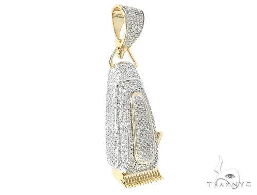 Diamond Barber Clipper Pendant 65207 Metal