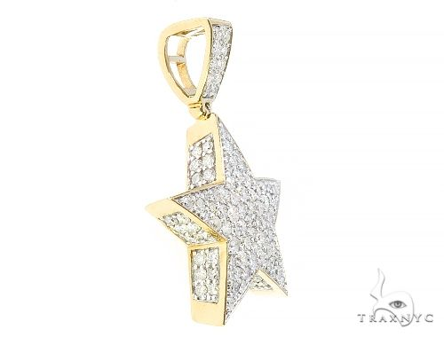 10K Yellow Gold Diamond Star Pendant 65208 Metal