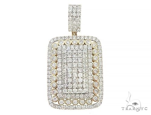 10K Yellow Gold Diamond Pendant 65214 Metal