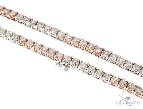 Diamond Tow Tone Tennis Chain 65218 Diamond