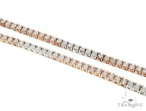 Diamond Tow Tone Tennis Chain 65219 Diamond