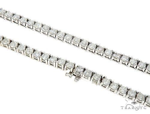 10K White Gold Diamond Tennis Chain 65220 Diamond