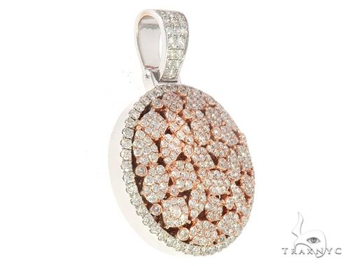 Cluster Two Tone Diamonds Pendant  Blue Maggic Collection 65231 Metal