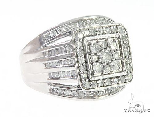 Multi Row White Gold Channel Diamond Ring 65238 Stone