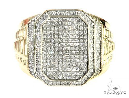 10K Yellow Gold Micro Pave Diamond Ring 65242 Stone