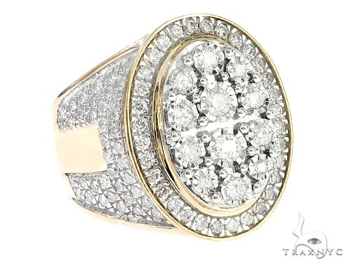 10K Yellow Gold Illusion Cluster Diamond Ring 65243 Stone