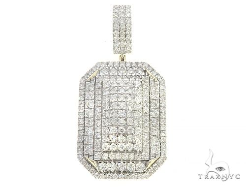 10K Yellow Gold Diamond Pendant 65260 Metal