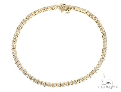 14K Yellow Gold Diamond Tennis Bracelet 65282 Tennis