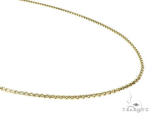 10K Yellow Gold Hollow Box Link Chain 28 Inches 1.5mm 4.2 Grams 65290 Gold