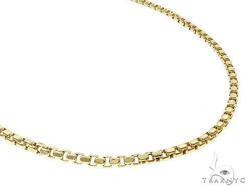 10K Yellow Gold Hollow Box Link Chain 24 Inches 3mm 13.0 Grams 65291 Gold