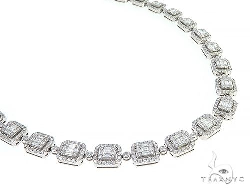 Baguette Invisible Diamond 22 inch Chain 65294 Diamond