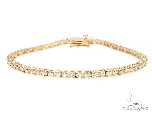 14K Yellow Gold Diamond Tennis Bracelet 65296 Tennis