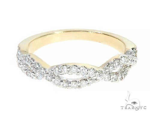 14K Yellow Gold Twisted Diamond Band 65298 Anniversary/Fashion