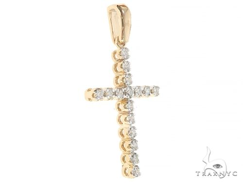 14K Yellow Gold Diamond  Cross 65301 Style