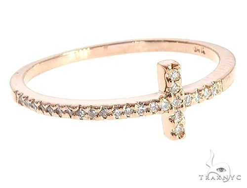 14K  Gold Prong Diamond Cross Ring 65306 Anniversary/Fashion