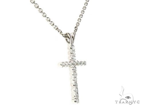 Diamond Cross Neckace Set 65315 Diamond Cross Pendants