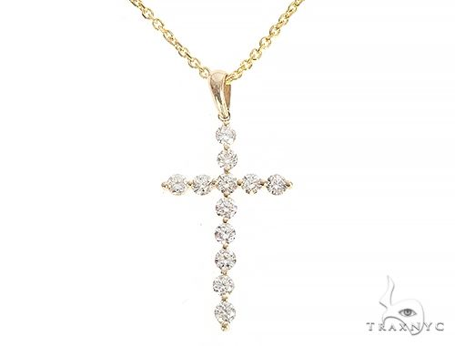 YG Enzo Diamond Cross Necklace 65314 Diamond