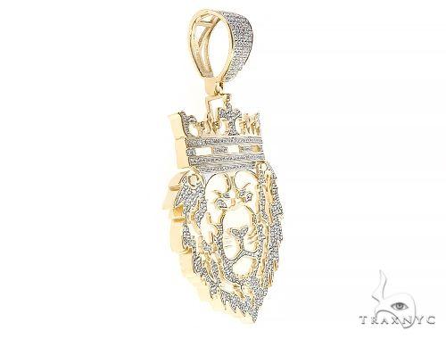 10K Yellow Gold Diamond Royal Lion King Pendant 65321 Metal