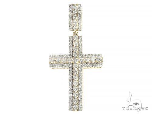 10K Yellow Gold Diamond Large Cross 65327 Metal