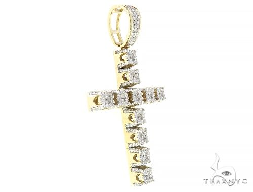 10 Yellow Gold Prong Diamond Large Cross 65331 Diamond