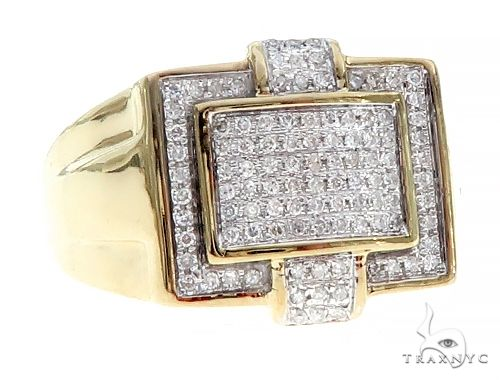 10K Yellow Gold Micro Pave Diamond  Ring 65333 Stone