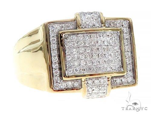 10K Gold Micro Pave Diamond  Ring 65333 Stone