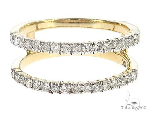 10K Yellow Gold Prong Diamond Two Row Anniversary Engagement Ring 65340 Anniversary/Fashion