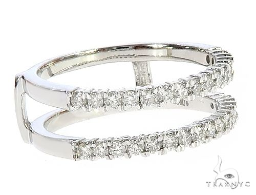 10K White Gold Prong Diamond Two Row Anniversary Engagement Ring 65343 Anniversary/Fashion