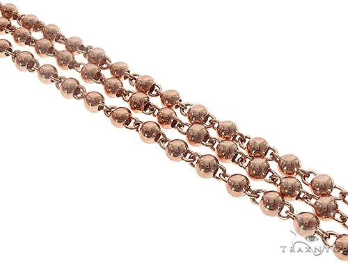 14K Rose Gold Fancy Lady Link Chain 16.5 Inches 11mm 65349 Gold