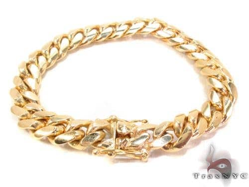 14k Gold Miami Cuban Link Bracelet 8.5 Inches 11.75mm 103.2 Grams 65355 Gold