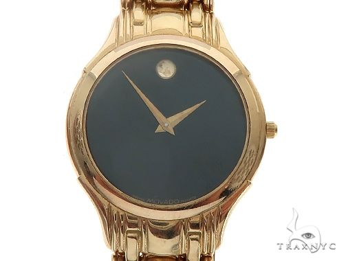 Vintage Movado 14K Solid Yellow Gold Mens Watch 65363 Movado